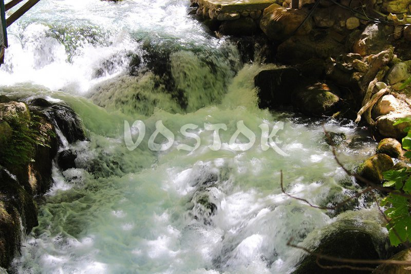 The water in Saklikent river is really fast