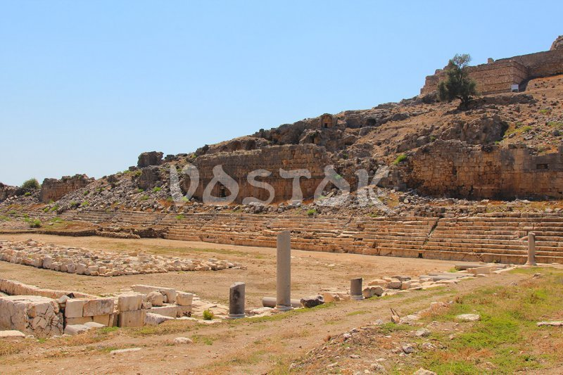 Other side of gymnasium near the municipal ancient pool in Tlos