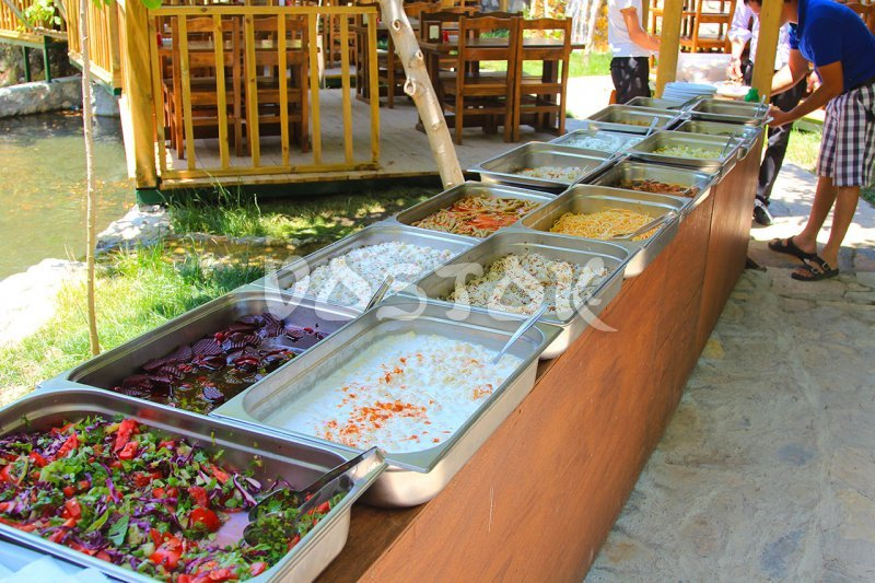 Open buffet at Yakapark restaurant