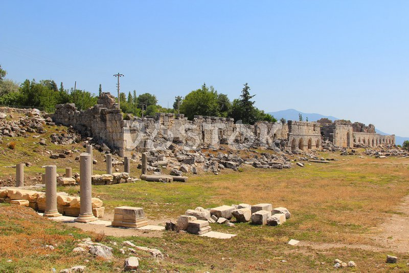 Gymnasium in ancient city of Tlos