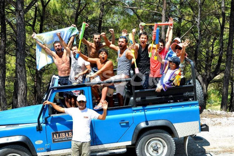 Jeep Safari Fethiye - everybody is happy, especially kids