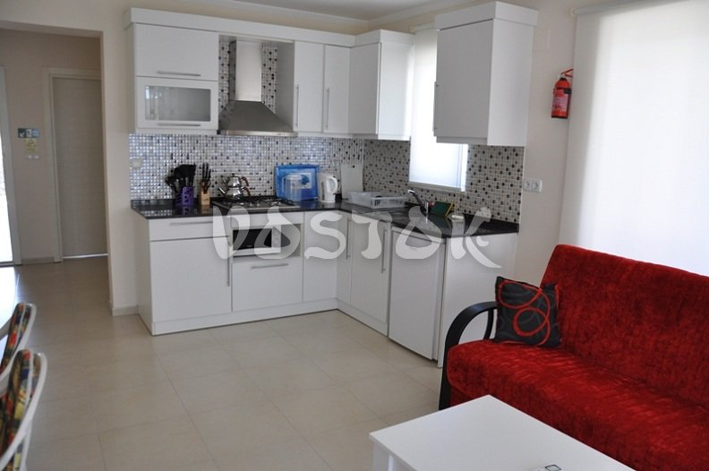 Open plan kitchen - G1 Blue Green apartment in Calis