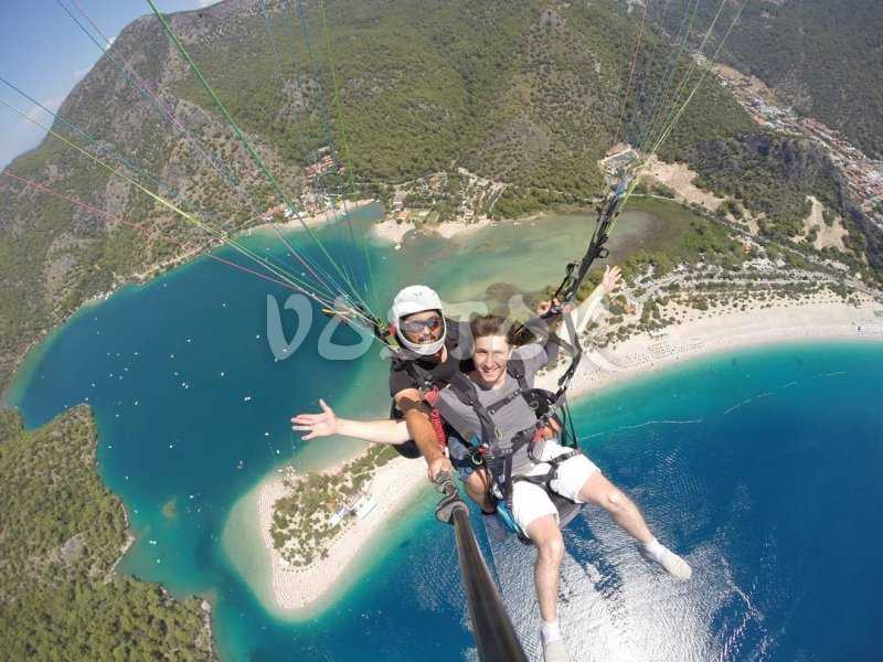 The way most famous activity in the are - Oludeniz paragliding