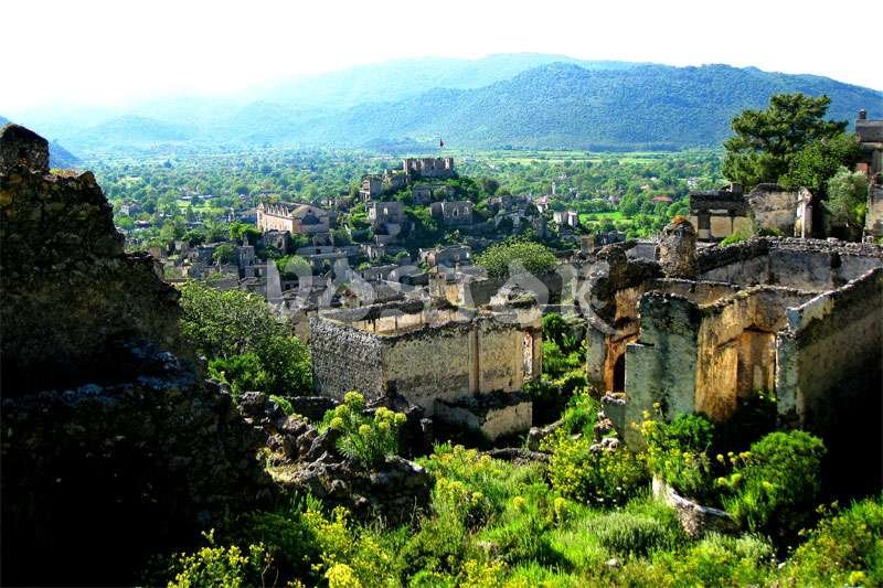 Greek village of Levissi - Kayakoy ghost town