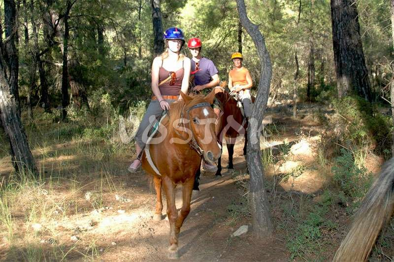 Horse riding tour through the pine forests towards Kayakoy