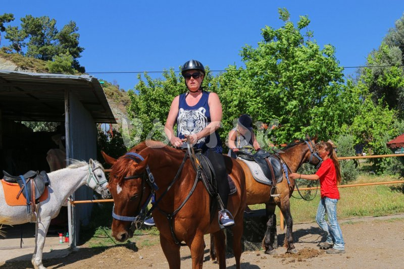 Horse riding tours along Karaot beach