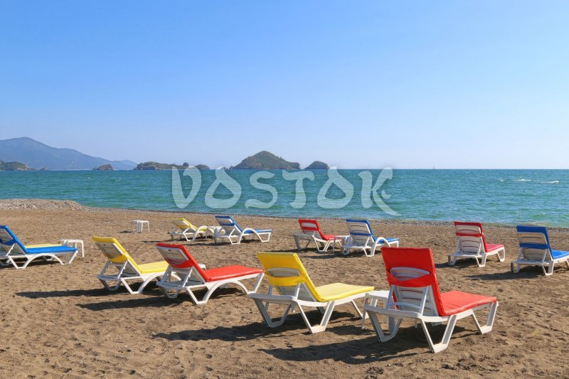 Incredible scenery of Karaot beach in Yaniklar