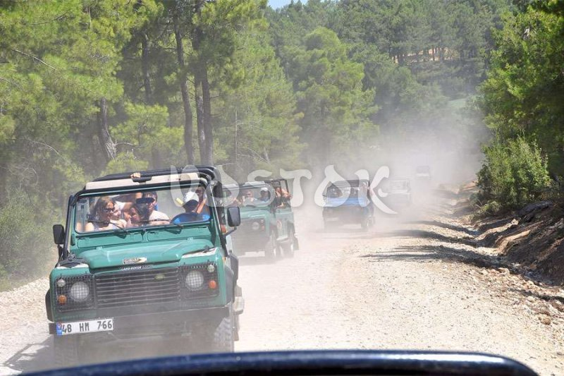 Dust and bumpy road will not spoil your Fethiye jeep safari