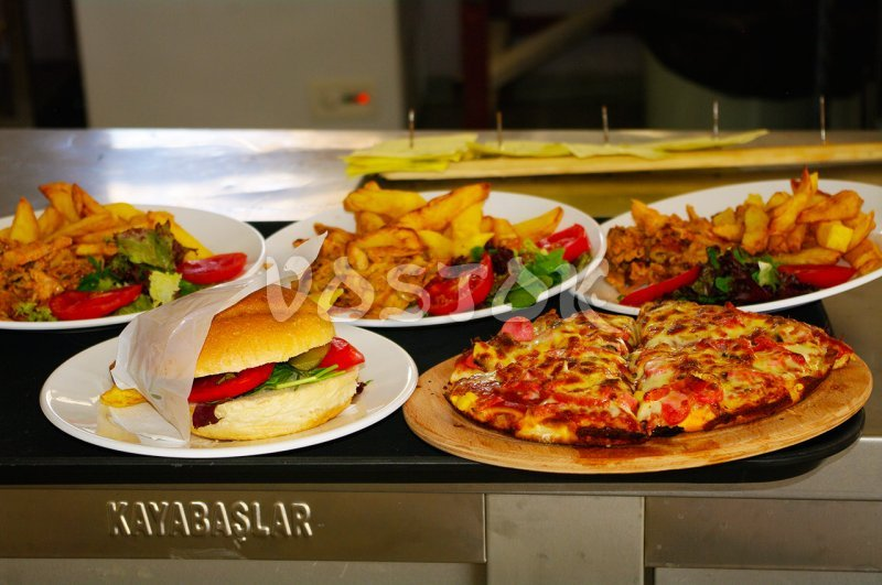 Available food in the restaurant in Oludeniz Water World Aquapark