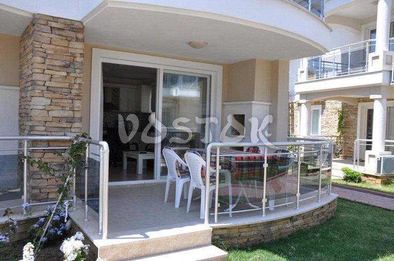 Large terrace - G1 Blue Green apartment in Calis