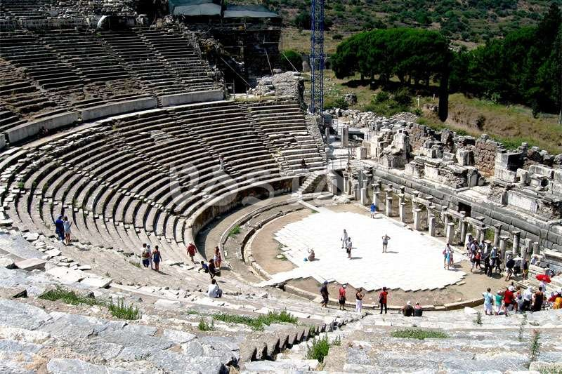 Ephesus theater - largest outdoor theater in the ancient world