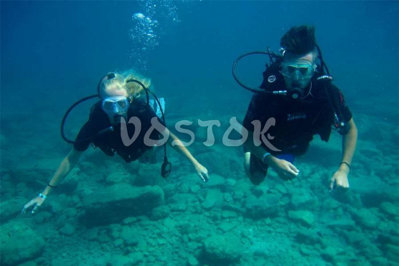 Scuba diving is just like a walking underwater