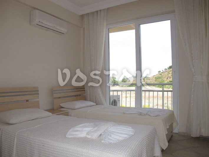 Twin beds bedroom - Sunset Aqua Apartments in Calis Turkey