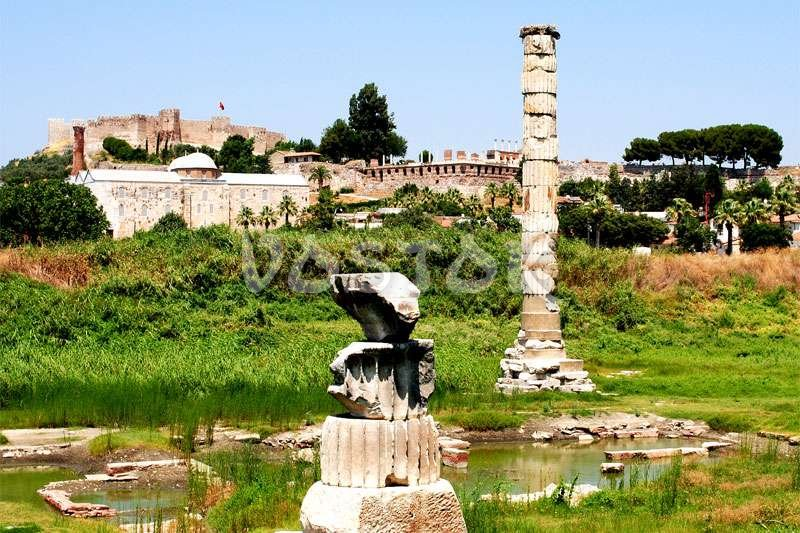 Site of the Temple of Artemis in the town of Selcuk near Ephesus