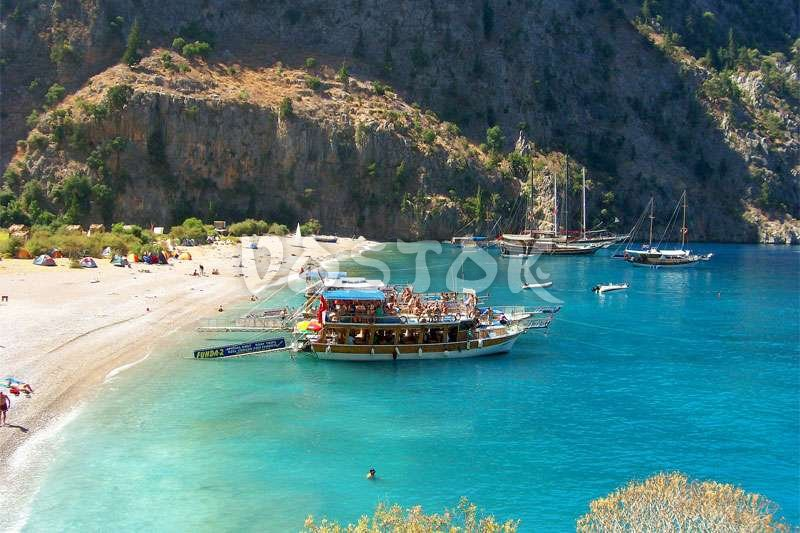 Butterfly Valley in Oludeniz Turkey  Butterfly Valley beach in Fethiye Turkey