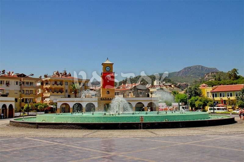 Fountain in the central part of Marmaris