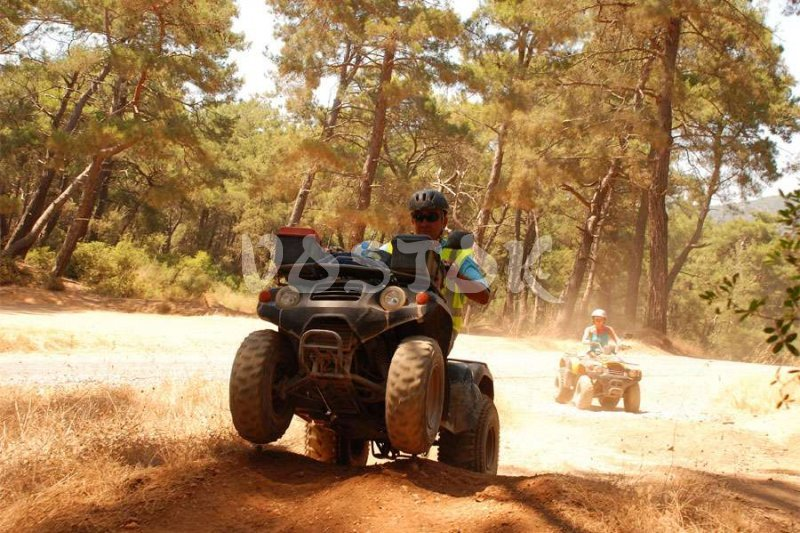 Quad bike off-road is real fun for real men