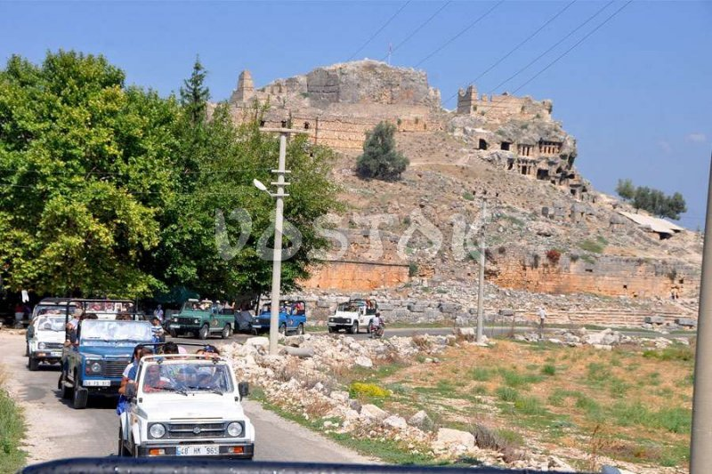 Ruins of Tlos is famous place that you visit by Fethiye Jeep Safari