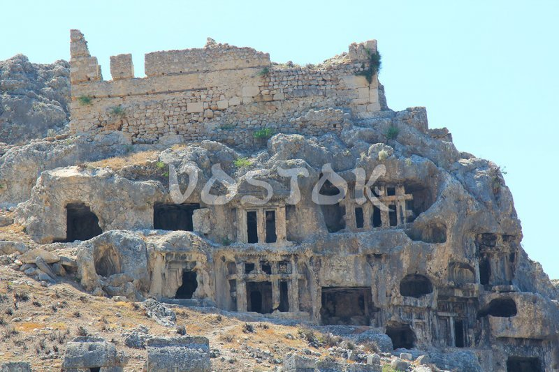 Lycian tombs in ancient city of Tlos - Saklikent Tour