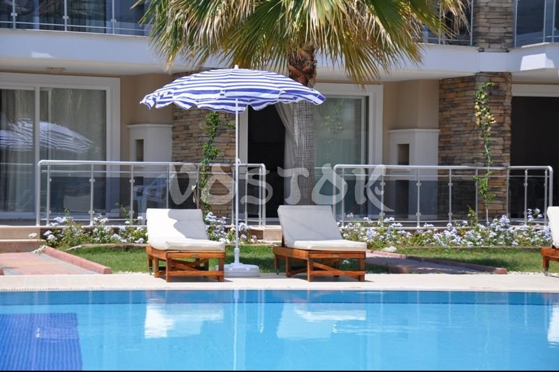 Large communal pool - Blue Green Apartments in Calis Turkey