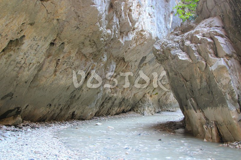 Another tiny river is flowing along the Saklikent gorge - Saklikent Tour