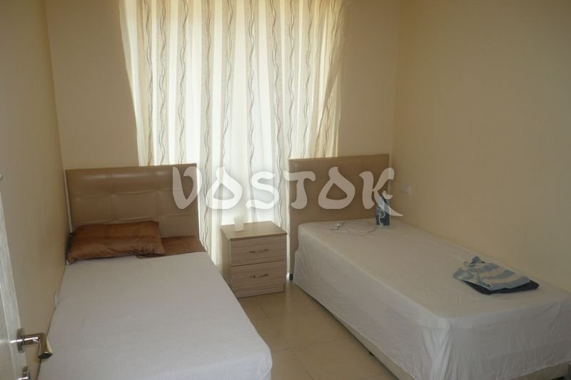 Bedroom with twin beds - Blue Green Apartments in Calis Turkey