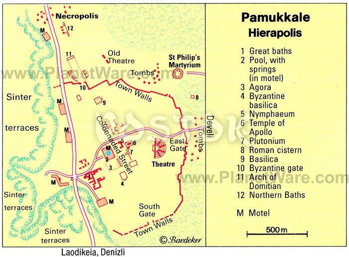 Ancient City Of Hierapolis Turkey Hierapolis Plan Ruins