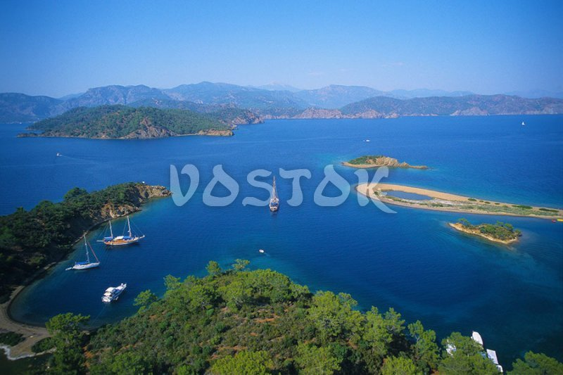 Yassica Islands in Gocek Bay - We will pass them on teh way to Gocek market