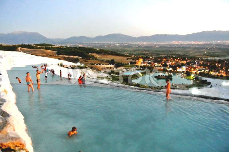 View from the hill to Pamukkale city