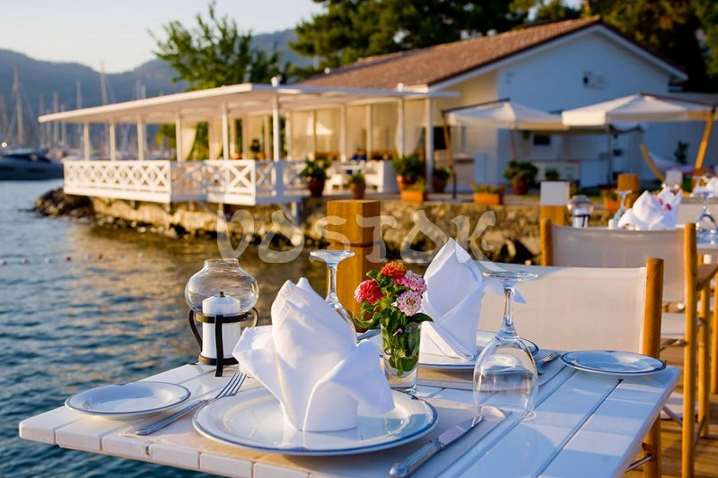 Romantic restaurant in Gocek marina