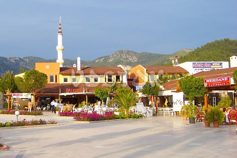 Main square on the way to Gocek Sunday market