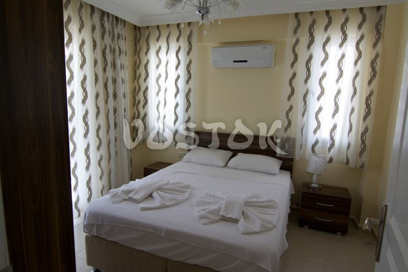 Double bed bedroom - Mountain View Villa in Ovacik