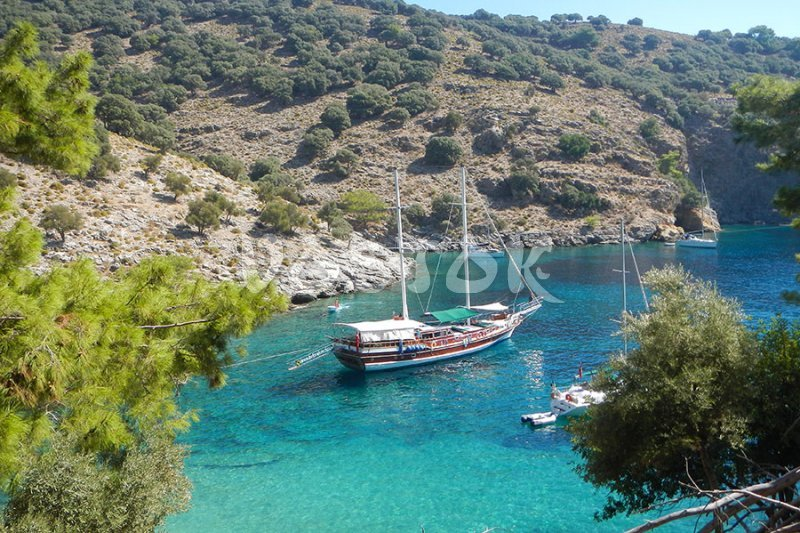 Turquoise waters are great for Gocek boat trips - Gocek Sunday Market Trip