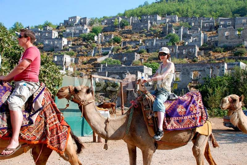 Camel trekking in ghost town - Caml Riding in Turkey