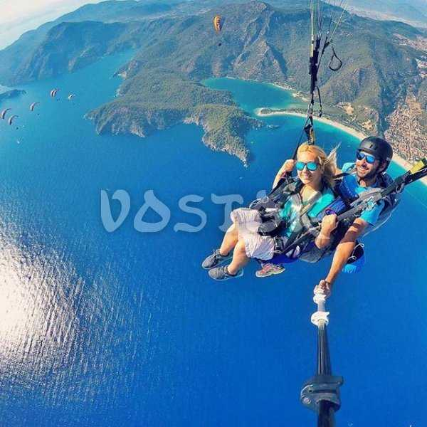 Never too much blue while paragliding over Oludeniz