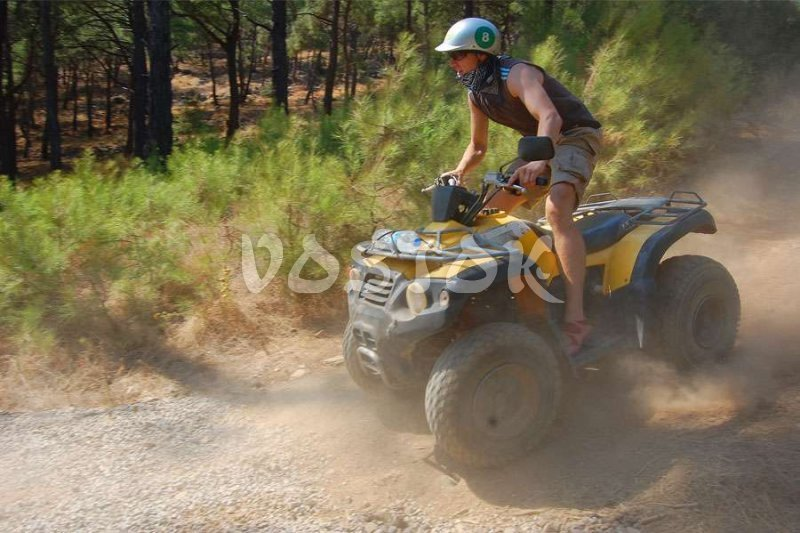 Brave guy on quad bike - Quad Biking Safari from Oludeniz