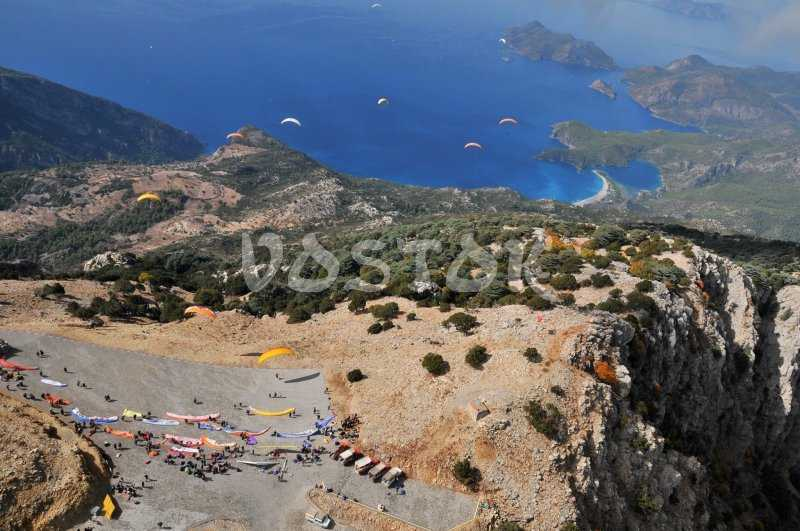 Launch spot for Oludeniz tandem paragliding