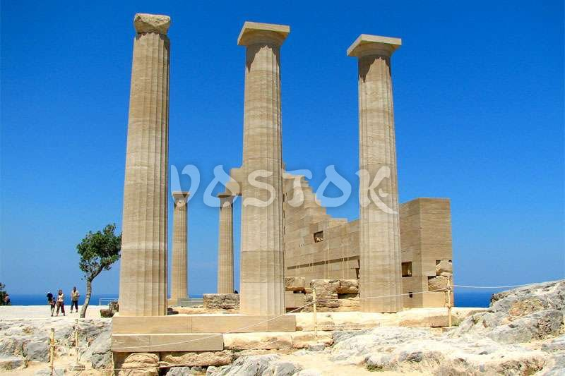 Remains of ancient temple of Apollonas at Rhodes Greece