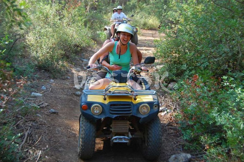 Hold me tight - it is too shaky  - Quad Biking Safari in Fethiye