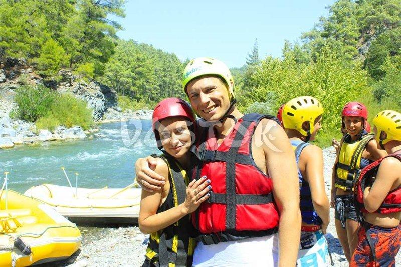 They do not look scared after rafting trip - Dalaman Rafting