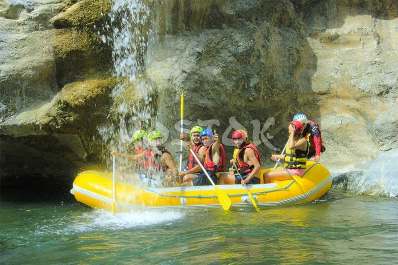 Waterfall on Dalaman River - Dalaman River Rafting