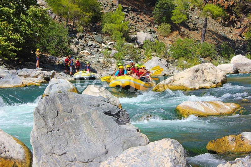 Dalaman river is too exciting sometimes - Dalaman Rafting
