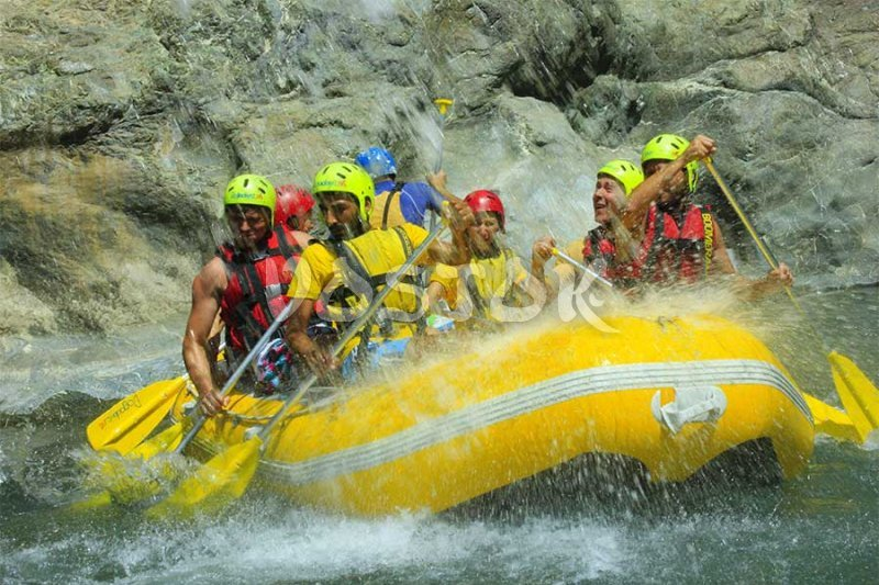 Waterfall on Dalaman river is very refreshing - Rafting Dalaman