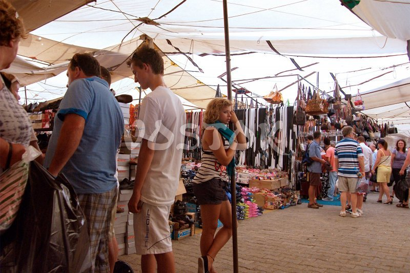 Bags, belts, shoes, towels, t-shirts and other stuff can be found at Tuesday Fethiye Market Turkey