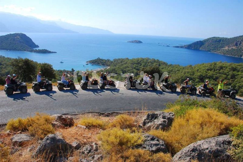 Descending to Gemiler Bay - Quad Biking Safari in Fethiye
