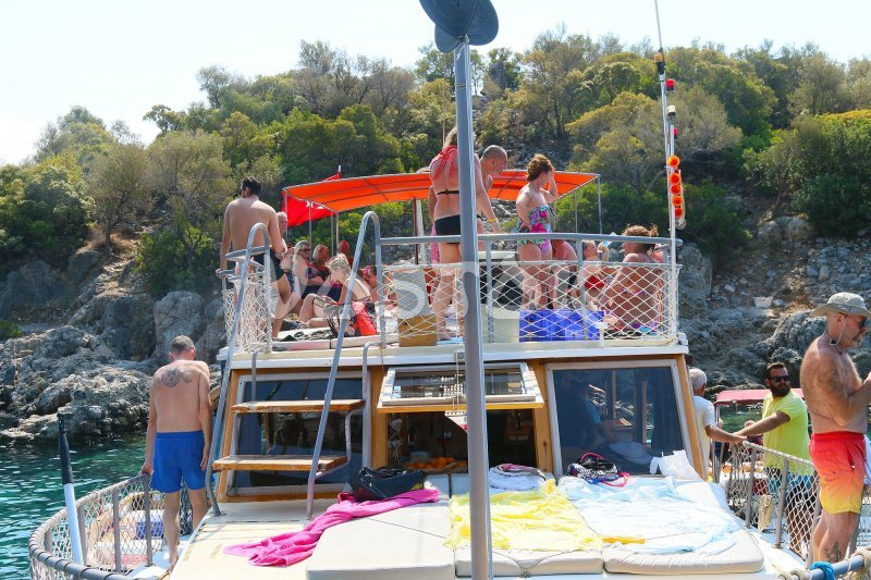 Top deck of small boat - Boat Trips from Oludeniz