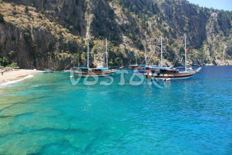 Butterfly Valley is the where we will have BBQ lunch on our Oludeniz boat trip