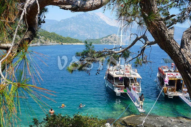 Aquarium bay as a place to visit during our Oludeniz Boat Trips