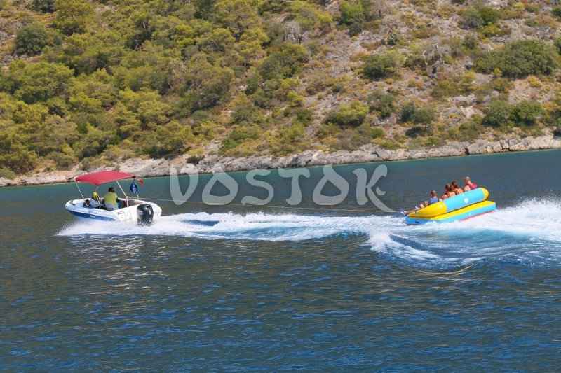 Water activities fun is available at extra charge - Oludeniz Boat Trip