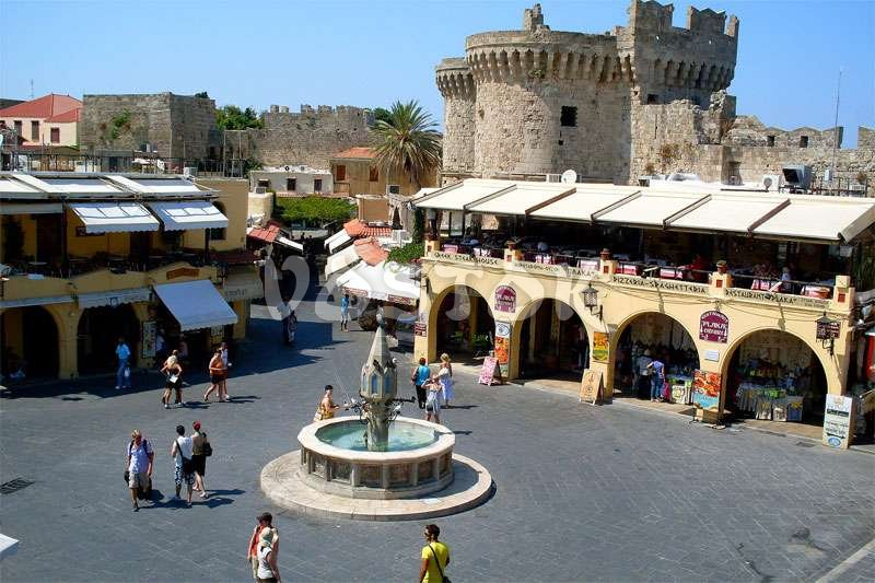 Square in ancient Rhodes
